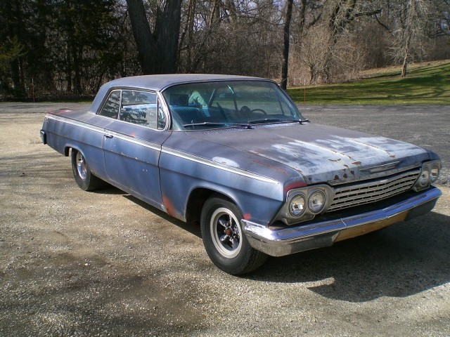 Sold Gt 1962 Chevrolet Impala Ss 327 Barn Find
