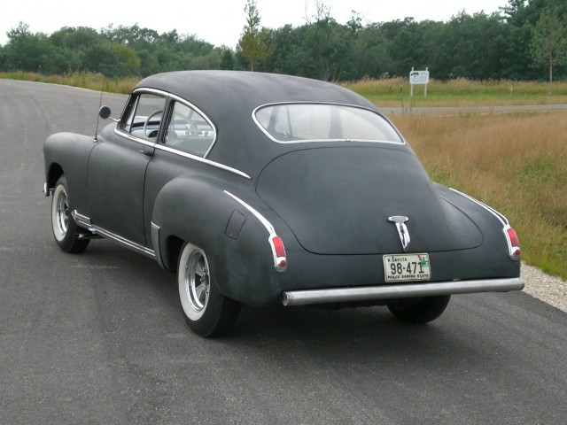 SOLD >1949 Olds Coupe Moonshine Express Rat Rod