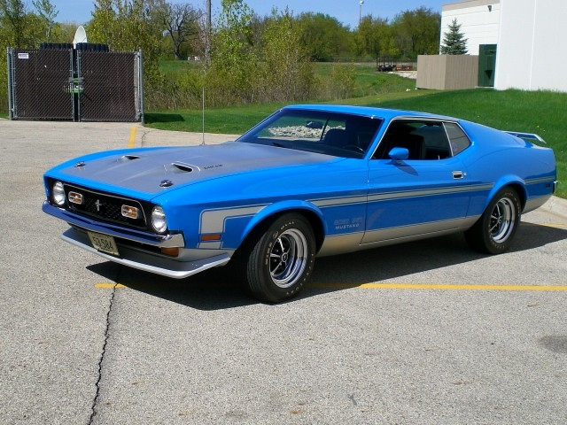 1971 Ford Mustang Ram Air Boss 351 4 spd Restored