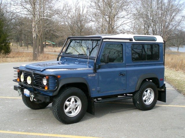 sold 1995 land rover defender 90 hardtop original owner first one of the last 500. Black Bedroom Furniture Sets. Home Design Ideas