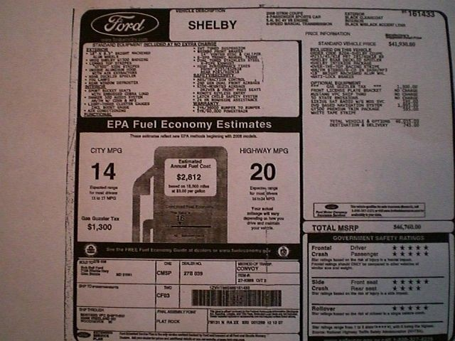 2008 Shelby Gt500 Super Snake Tasca Ford Kenne Bell