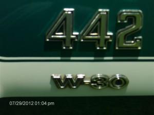 1971 Olds 442 W30 008